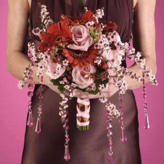 Pink and Brown Bridesmail Bouquet