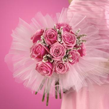 Pink Rose Bridesmaid Boquet