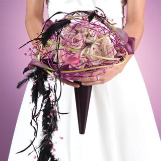 Feather and Ribbon Bridal Bouquet