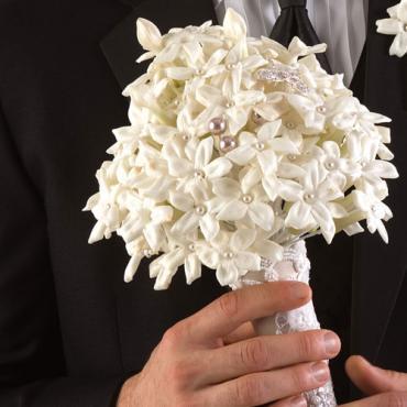 Stephanotis and Pearl Bouquet