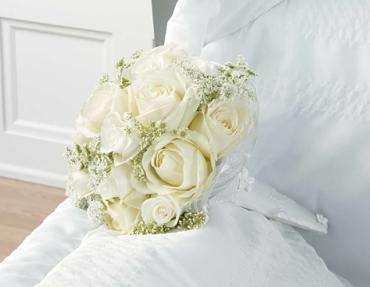 White rose sympathy arrangemet